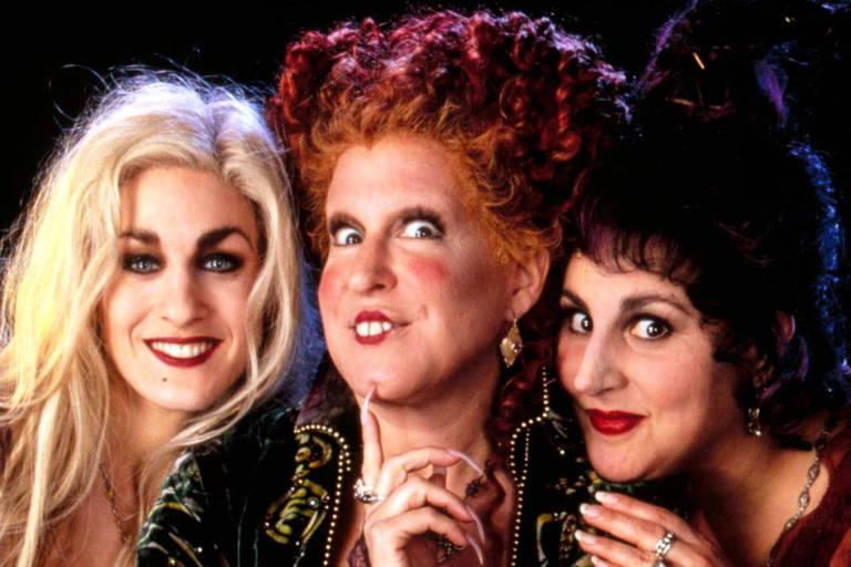 """Sarah Jessica Parker, Bette Midler e Kathy Najimy são as protagonistas de """"Abracadabra"""""""