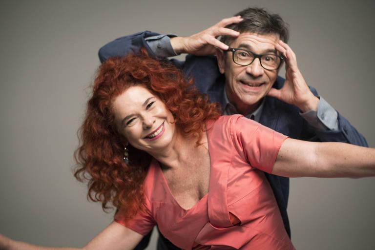 Os personagens Pauleco (Paulo Tatit) e Sandreca (Sandra Peres) da Palavra Cantada