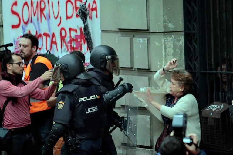 Manifesta��es em plebiscito separatista catal�o
