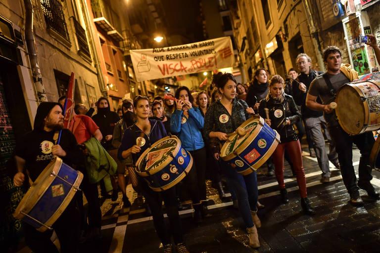 Manifesta��es em plebiscito catal�o