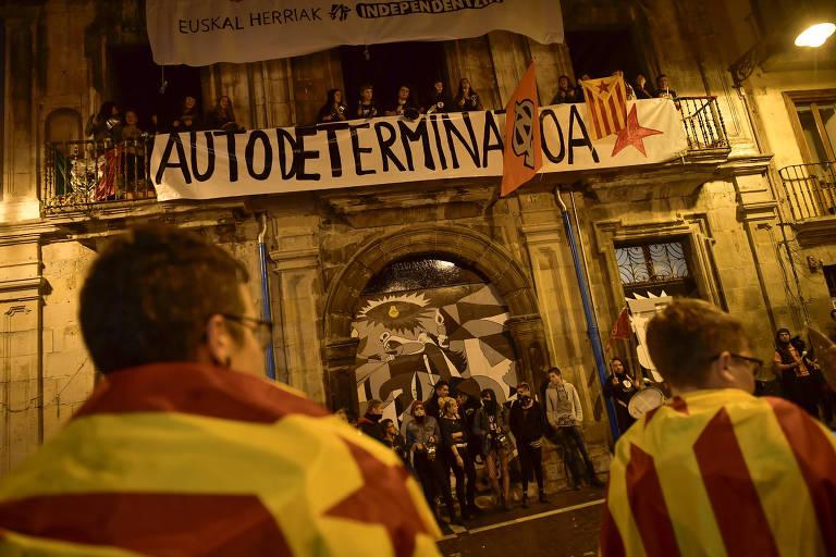 Manifestações em plebiscito catalão