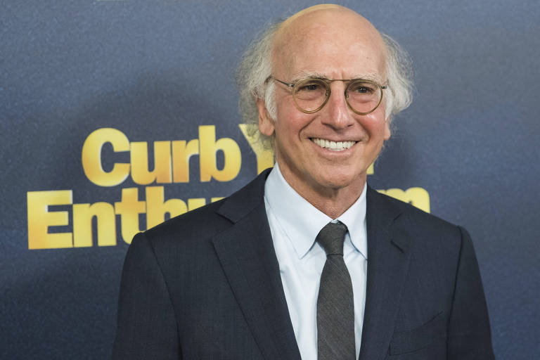 Larry David durante o evento de estreia da nona temporada de 'Curb Your Enthusiasm