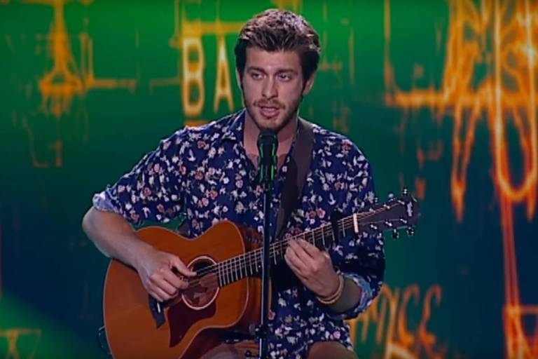 "Tiago Nacarato cantou MPB no ""The Voice Portugal"""