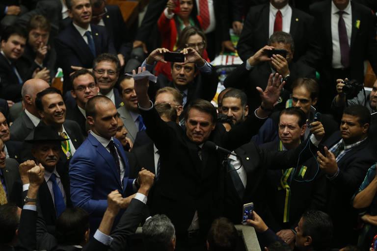 Jair Bolsonaro na votação do pedido de impeachment de Dilma Rousseff
