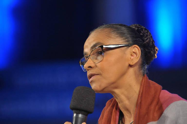 A ex-ministra Marina Silva participa do 2 F�rum de Energia Limpa da Folha de S.Paulo
