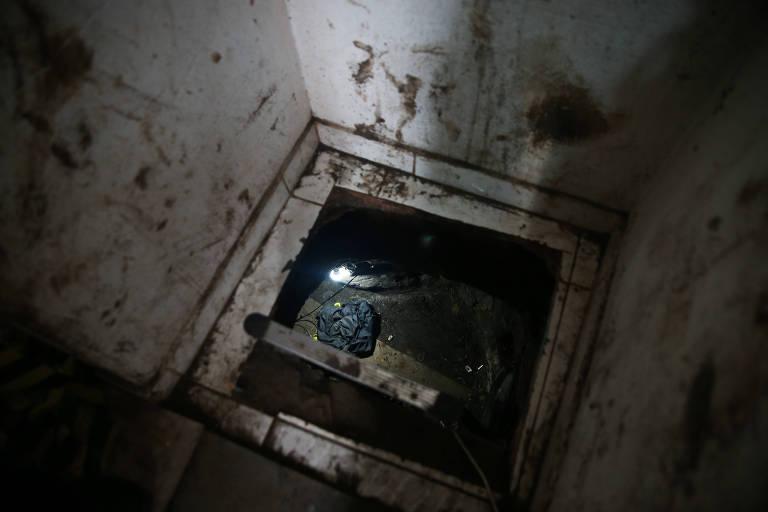Tunel a cofre de banco
