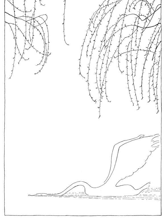 """lustração de Olaf Gulbransson para """"O Patinho Feio e Outras Histórias"""", de Hans Christian Andersen"""