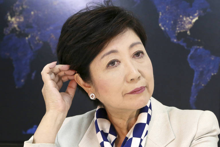 Tokyo Governor and Party of Hope leader Yuriko Koike speaks during an interview with The Associated Press at her party's office in Tokyo, Friday, Oct. 6, 2017. Just days before Japan?s national election campaign kicks off, all eyes are on Koike, Tokyo?s governor. (AP Photo/Koji Sasahara) ORG XMIT: KSX107