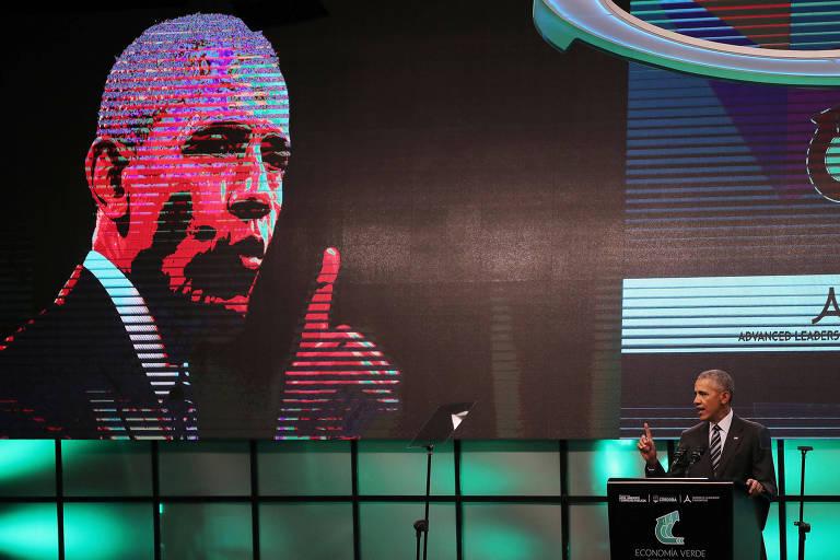 Barack Obama em evento em C�rdoba, na Argentina