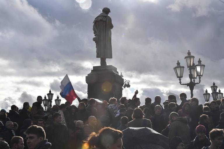 Protestos na Rússia
