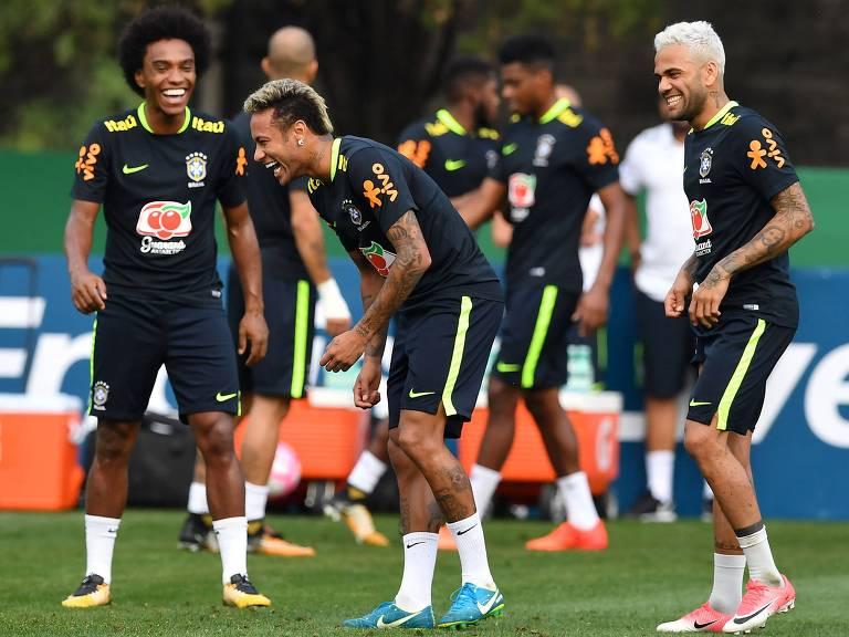 Treino da seleção brasileira