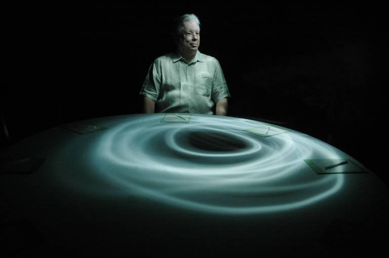 Richard Thaler durante visita a S�o Paulo em 2008