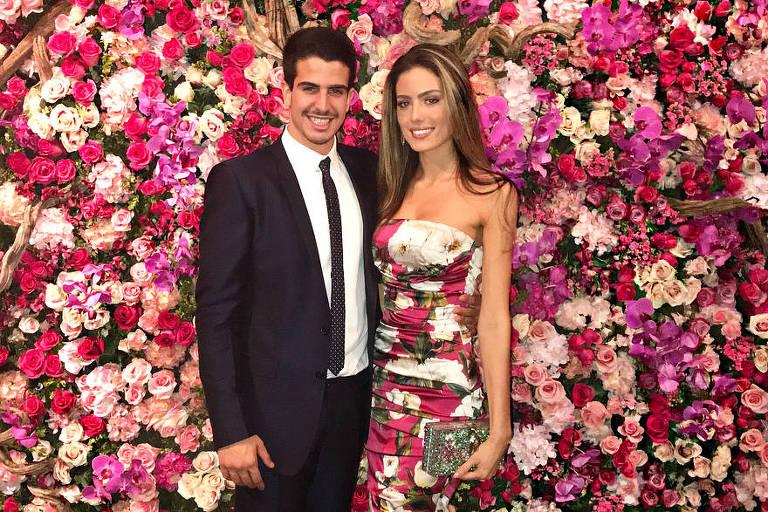 Enzo Celulari e Victória Grendene no casamento de Marina Ruy Barbosa