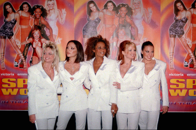 As Spice Girls na estreia do filme