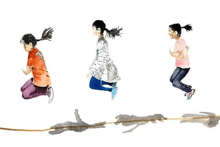 Ilustração do coreano Chan Jae Lee, que publica as aquarelas que faz para os netos no seu Instagram, @drawings_for_my_grandchildren, que tem mais de 300 mil seguidores