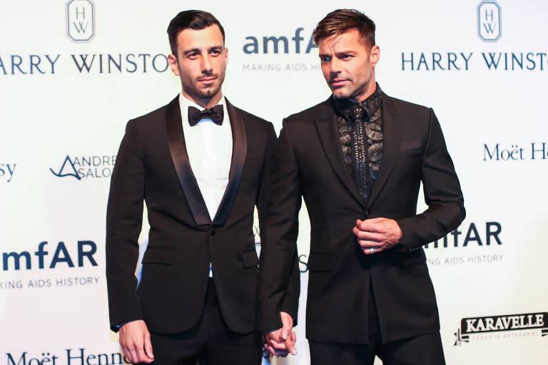 Ricky Martin e Jwan Yosef  em baile de gala em São Paulo