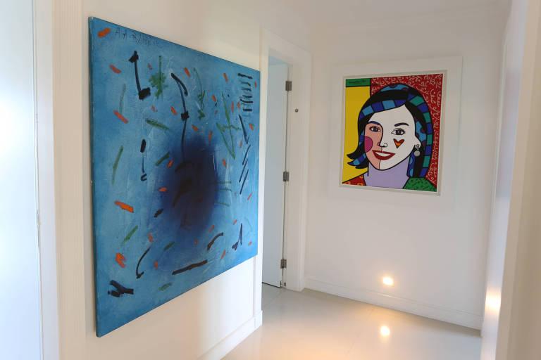 Pinturas da mans�o de S�rgio Cabral