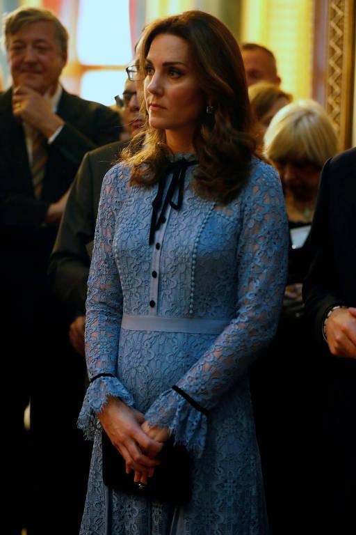 Kate Middleton faz primeira aparição pública após anúncio de gravidez