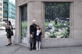 Bana al-Abed, right, and her mother, Fatemah, in New York.