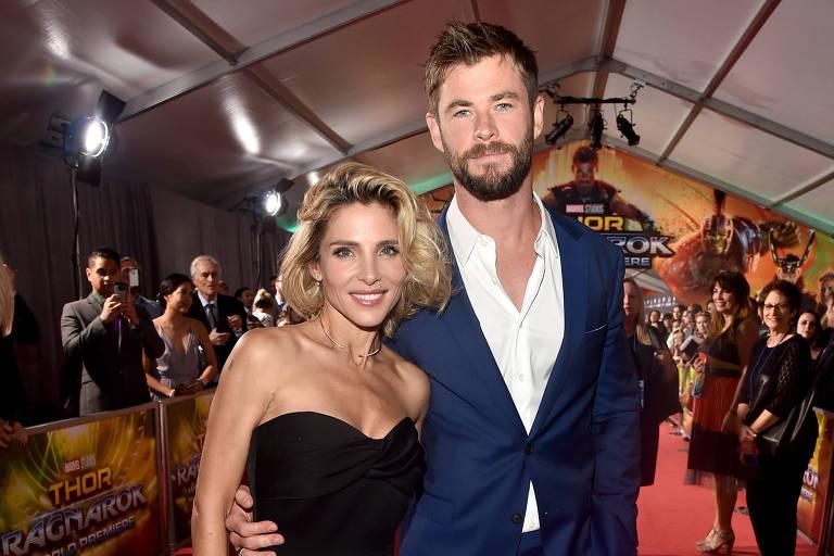 """Elsa Pataky e Chris Hemsworth na première de """"Thor: Ragnarok"""""""
