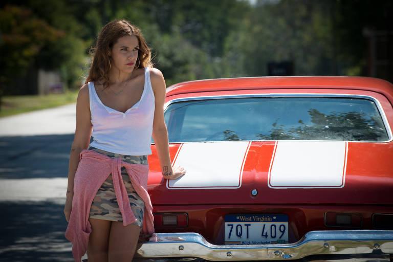 A atriz Riley Keough em cena do filme 'Logan Lucky - Roubo em Família'