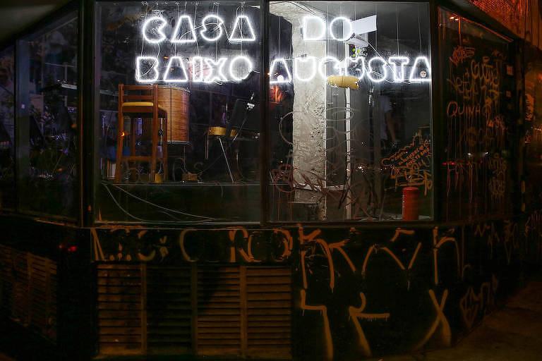 A sede do bloco carnavalesco Acadêmicos do Baixo Augusta