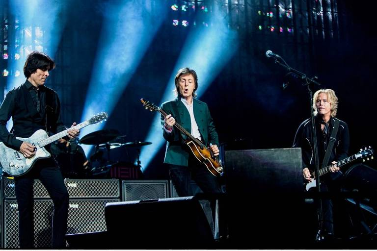 O cantor britânico Paul McCartney faz show no Allianz Parque
