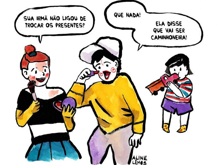 cartum sobre dia da criança – Aline Lemos