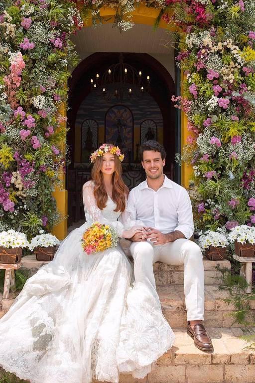 Vestido de casamento religioso de Marina Ruy Barbosa