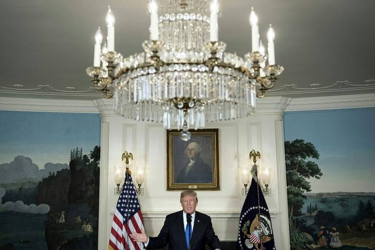 Donald Trump fala sobre o acordo com o Ir� na Casa Branca
