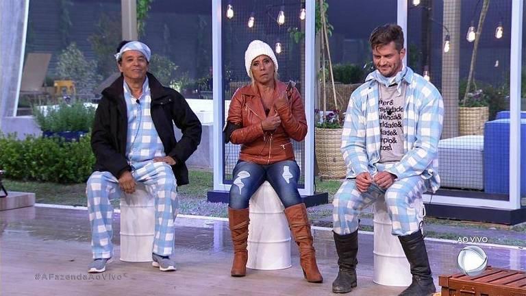 """Nahim, Rita Cadillac e Marcos formam a quinta roça do reality """"A Fazenda"""""""