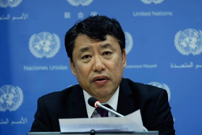 O vice-embaixador da Coreia do Norte junto às Nações Unidas, Kim In-ryong