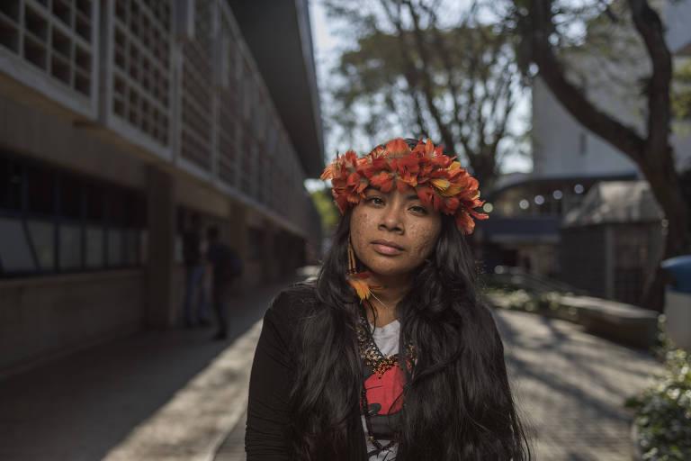 SAO PAULO, SP - 23 AGOSTO: Ariene dos Santos Lima, india da etnia Wapixana, de Roraima, posa para foto durante a Segunda Conferencia Mapa Educacao, na FEA-USP, em 23 de agosto de 2017. (Foto: Renato Stockler)******PREMIO EMPREENDEDOR SOCIAL 2017****** – Renato Stockler