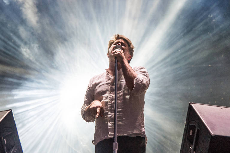 James Murphy, o vocalista do LCD Soundsystem, em show de 2016