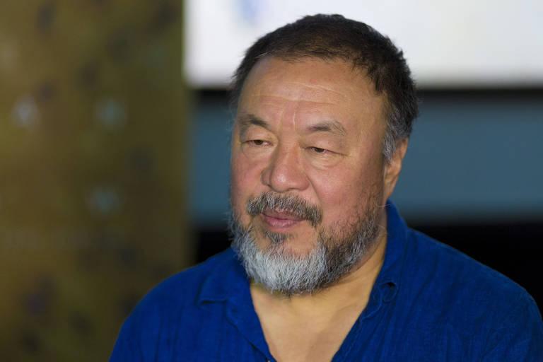 Ai Weiwei, que veio a SP lan�ar 'Human Flow', em debate promovido pela Mostra e pela Folha