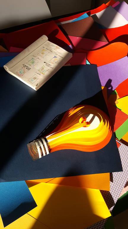 Making of das esculturas de papel