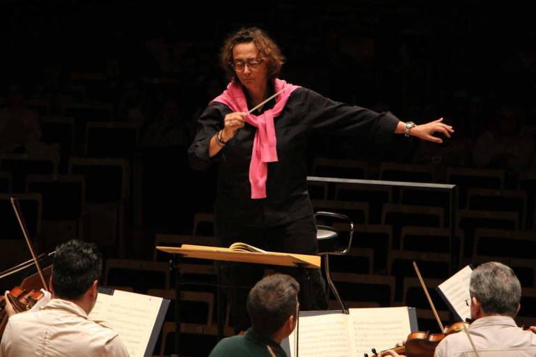 A cantora e regente francesa Nathalie Stutzmann