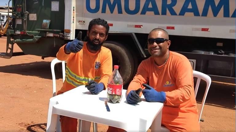 Garis de Umuarama fazem vídeo sobre descarte de vidro