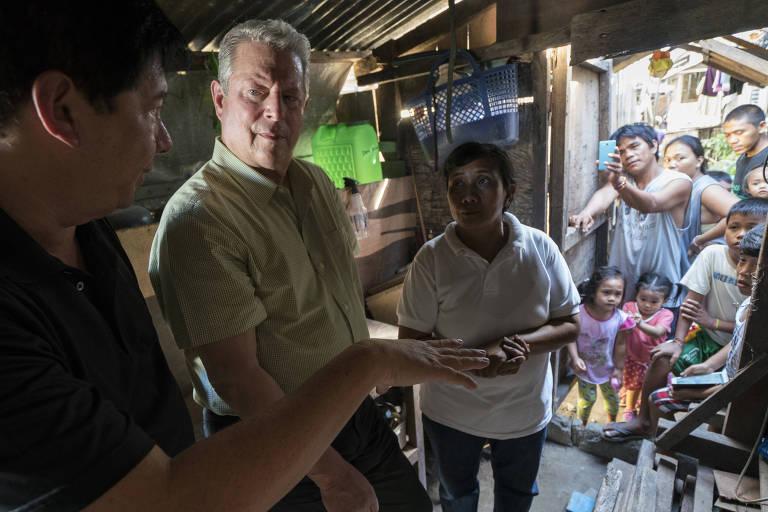 O ex-vice presidente americano Al Gore em cena do filme 'Uma Verdade Mais Inconveniente