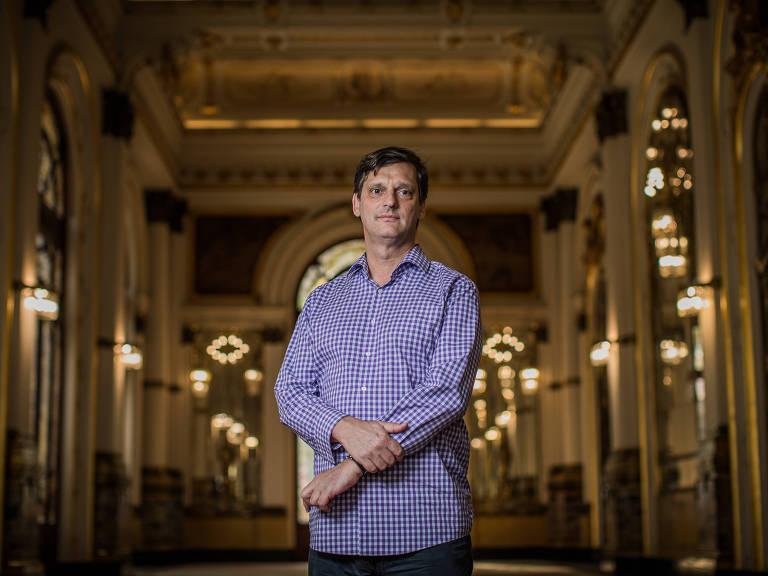 O secretário de Cultura, André Sturm, no Theatro Municipal de São Paulo – Bruno Santos/Folhapress