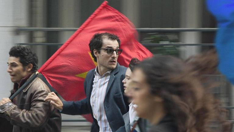 "Louis Garrel em cena do filme ""O Formidável"", do diretor Michel Hazanavicius"