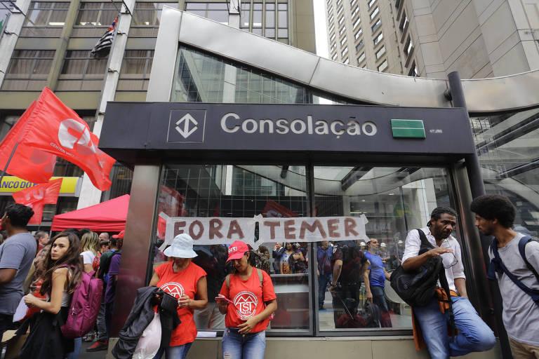 Protesto MTST - Avenida Paulista