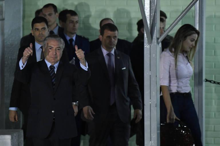O presidente Michel Temer recebe alta após ser internado no Hospital Militar de Brasília