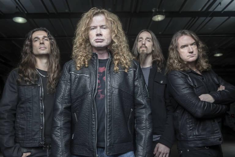 A banda Megadeth faz show no Espaço das Américas