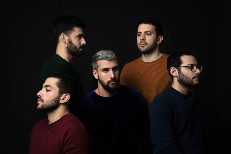 A banda libanesa Mashrou' Leila, que se apresenta no Sesc Pompeia