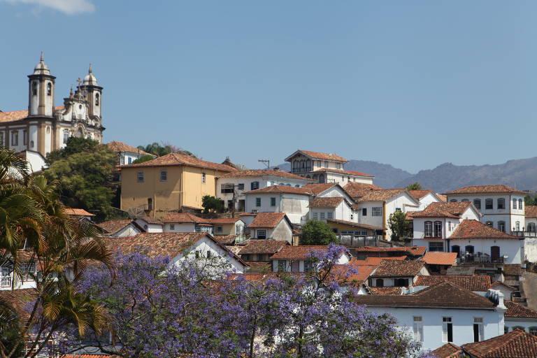 Vista do município de Ouro Preto
