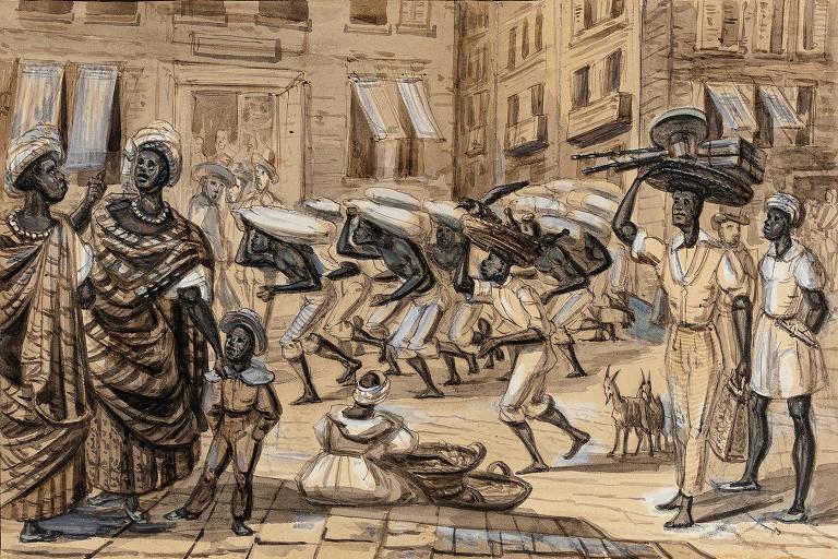 'Cana na Rua Direita' (1840) de Paul Harro-Harring