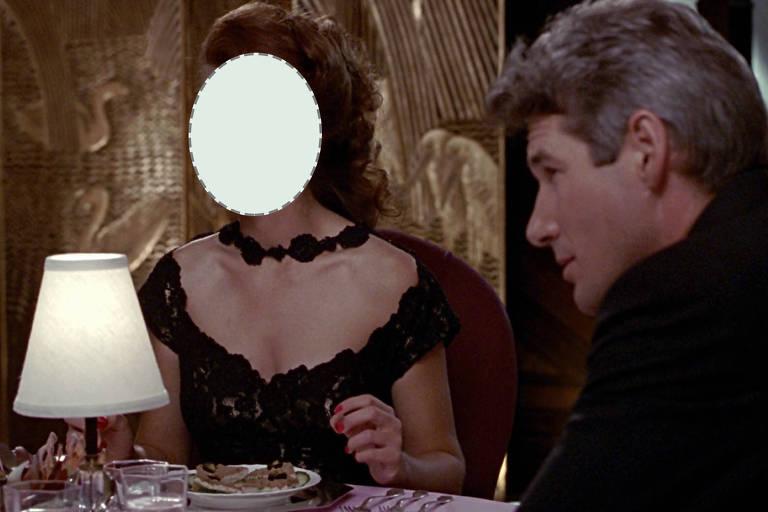 Recorte sobre o rosto de Julia Roberts em cena de 'Uma Linda Mulher'