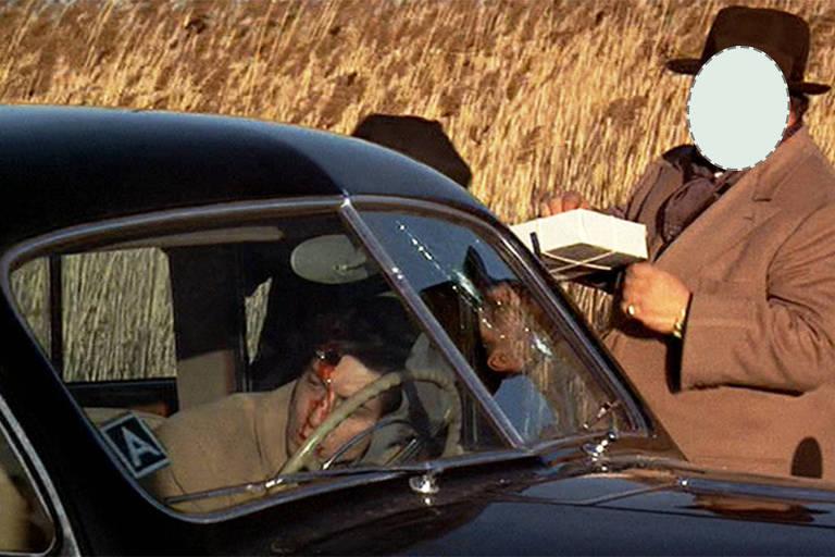Mafioso deixa a arma e pega caixa de cannoli em 'O Poderoso Chefão'