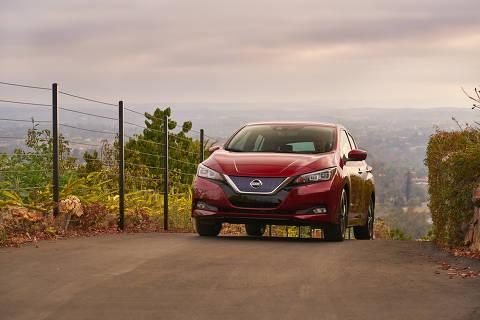 Nissan Leaf 2018, carro elétrico de origem japonesa que será vendido no Brasil  Foto: Divulgacao DIREITOS RESERVADOS. NÃO PUBLICAR SEM AUTORIZAÇÃO DO DETENTOR DOS DIREITOS AUTORAIS E DE IMAGEM